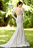 Adagio Bridal W9291 long sheer lace sleeves lace bridal gown