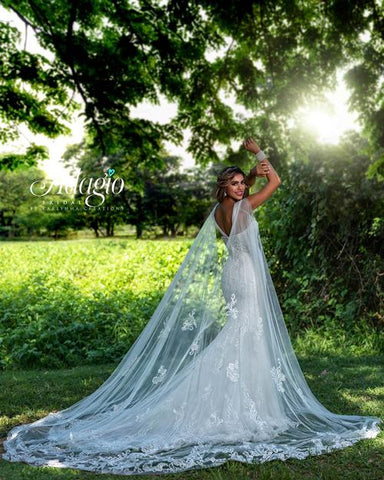 J9379 Cape for bridal gown W9379 or sold separately lace cape