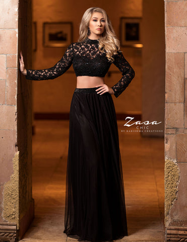 Zasa Chic by Karishma Creations Z2079 Black Size 4 and 10