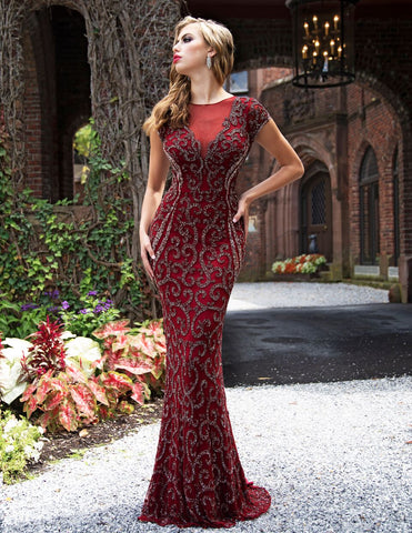 Primavera Couture 3190 Evening Burgundy and Ivory Sizes 2-24