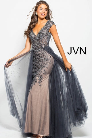 Jovani JVN60967 Size 6 Long Overskirt Prom Pageant Dress Embellished Gown