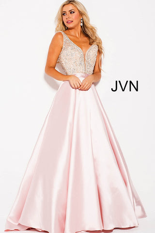 JVN by Jovani 60696 Embellished Ballgown A line prom dress Plunging Neckline 2020