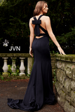 JVN by Jovani 50333  mermaid prom dress with bow in back
