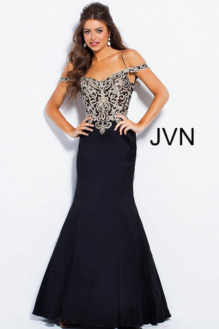 JVN by Jovani 60204 Size 10 off the shoulder straps mermaid prom dress Long Gown