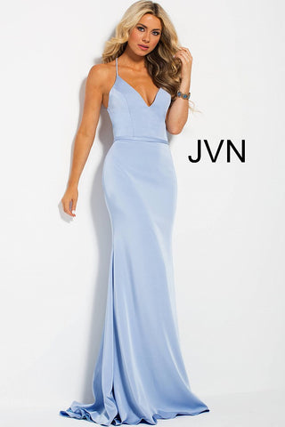 JVN by Jovani 55642 plunging neckline open back fitted prom dress ...