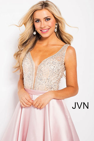 Jovani JVN 60696 Prom Dress Ballgown V Neck Evening Gown Pockets