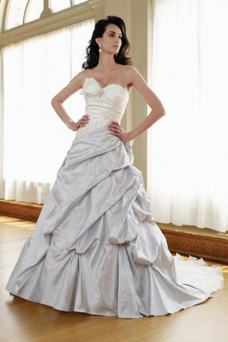 Mon Cheri David Tutera 111231 Silver Wedding Dress Size 8 Bridal Gown