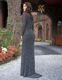 Primavera Couture 3180 Evening Gunmetal and Nude Silver Sizes 2-24