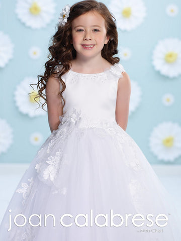 Joan Calabrese 116377 size 6 white flower girl dress