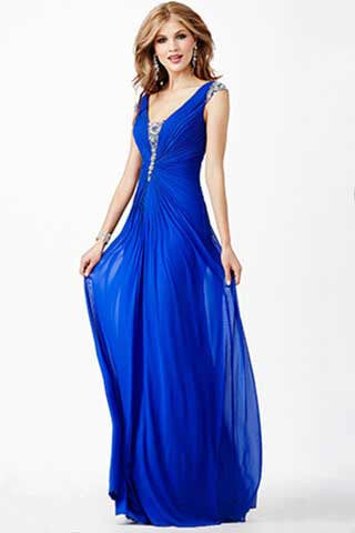 JVN by Jovani style 27556 Royal Blue size 2 prom dress pageant gown