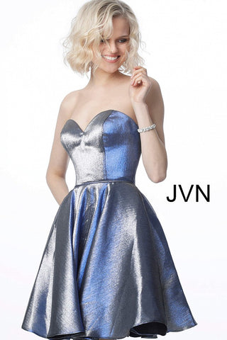 JVN3776 sweetheart neckline fit and flare homecoming dress