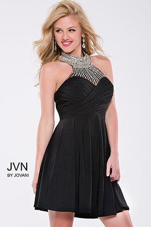 JVN by Jovani 42589 Black size 2 short cocktail Gown Homecoming Dress 2019