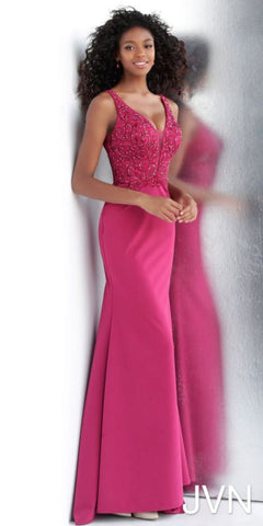 JVN by Jovani 64122 A Raspberry Size 4