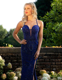 Primavera Couture 3212 Royal Blue Size 2 Prom Dress Pageant Gown