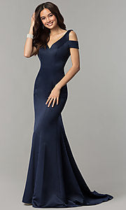 Allie Blue 3467 Navy size 2 Prom Dress Pageant Gown