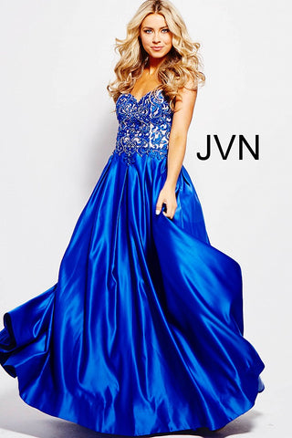 JVN by Jovani 45591 Royal Blue size 16 corset prom dress pageant gown