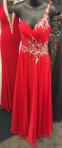 Precious Formals Glam Gurlz S53012 Red size 0 prom dress pageant