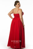 Sydneys Closet  7071  evening gown prom dress Ruby Red size 24