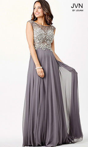 JVN by Jovani style 33472 Blush size 12 prom dress pageant gown