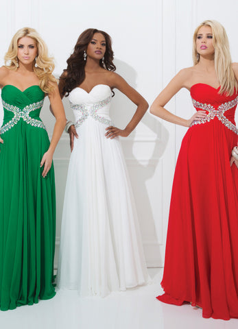 Tony Bowls 11412 Emerald size 12 Prom Dress Pageant Gown Sweetheart Long
