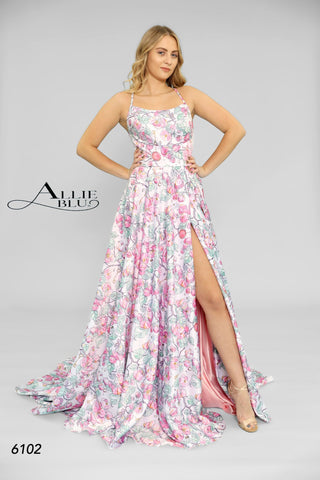 Allie Blu 6102 Pink Print Sizes 0-14