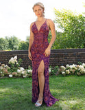 Primavera Couture 3259 Long Beaded V Neck Prom Dress Formal Gown