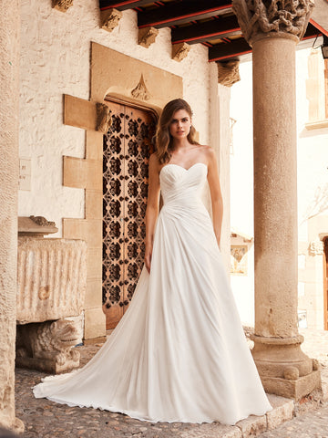 Ruched Embellished Wedding Gown White Ivory Size 2-22 Fast Shipping