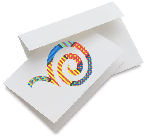 Bouncing Spiral Note Card