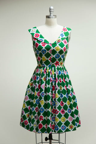 Lulu Dress Square Garden