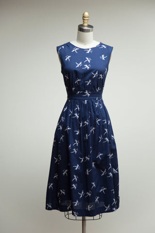 Lucy Dress Long Midnight Dragonflies