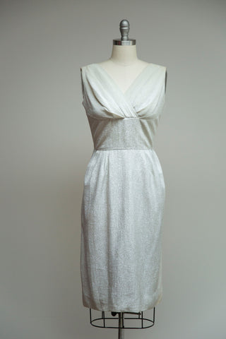 Silver Starlight Cocktail Dress