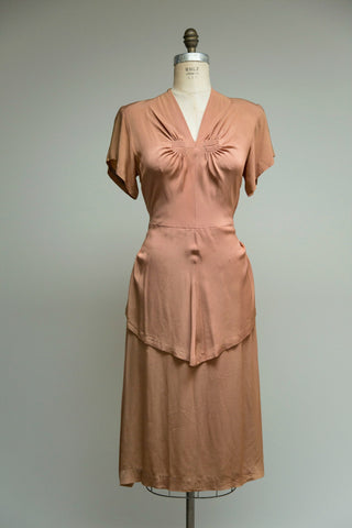 Coppertone Rayon Dress