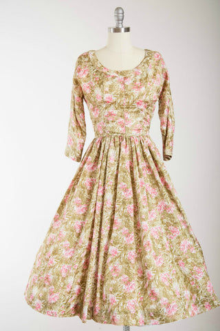 Watercolour Lillies Dress - Simply Vintage  - 1