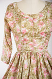 Watercolour Lillies Dress - Simply Vintage  - 2