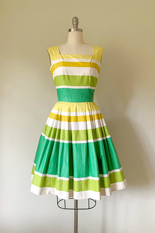 Lemons and Limes Cotton Dress