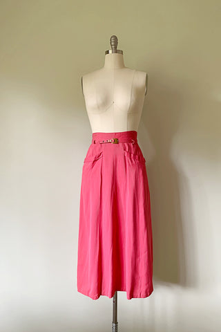 Berry Good Gabardine Skirt