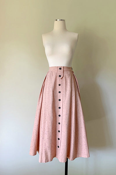 Rosamond Wool Fleck Skirt