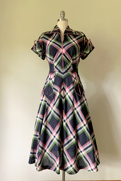 Tallulah Plaid Dress