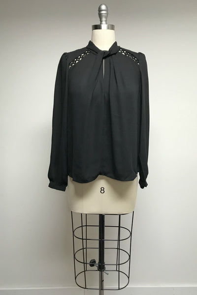 Hotley Cutout Blouse in Black