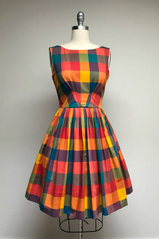 Abigail Dress Festival Plaid
