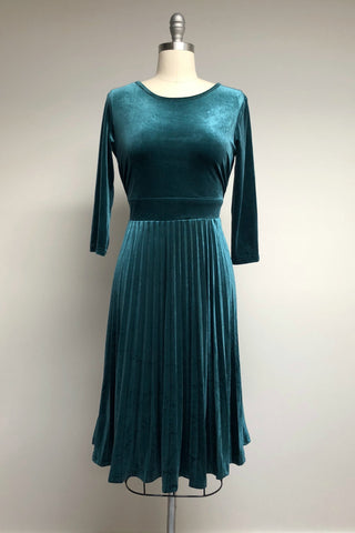 Emerald City Velvet Party Dress