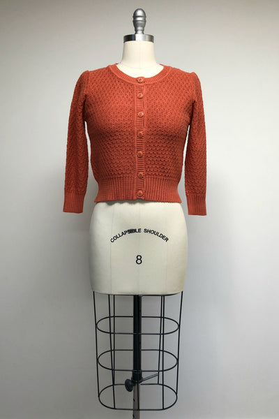 Cotton Crocheted Dusty Orange Sweater