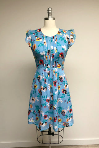 Ladder Front Floral Day Dress