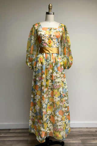 Field in Spring Maxi Dress