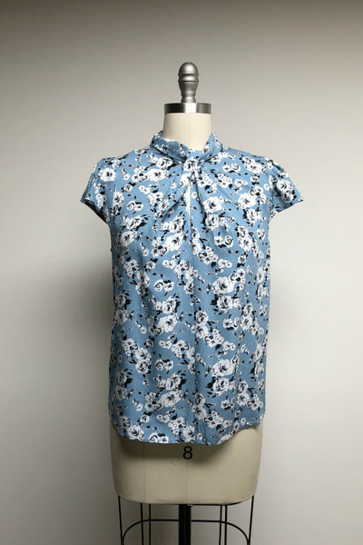 Katiana Top Printed Blue Floral