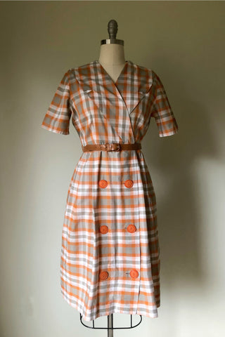 Seraphine Plaid Day Dress