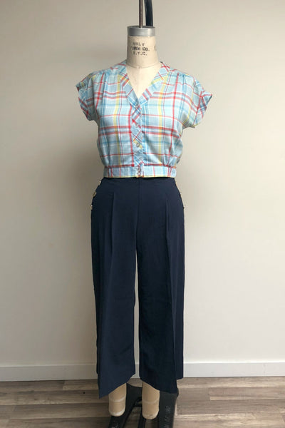 High Waisted Sailor Trouser