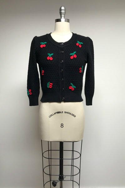 Cotton Crocheted Cherry Sweater