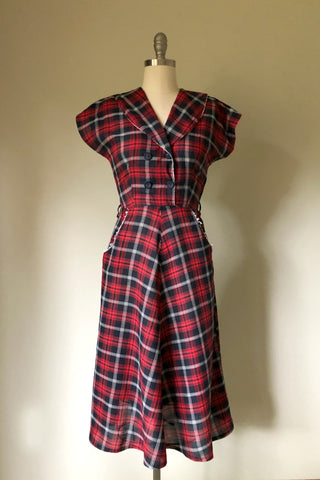 Gemma Plaid Dress