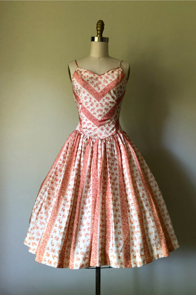 Peach Parfait Party Dress
